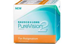 Purevision 2 Toric For Astigmatism 6 pack | Ohgafas.com