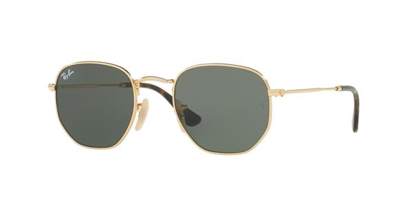 Ray-Ban Hexagonal Flat Lenses RB3548N 001 | Ohgafas.com